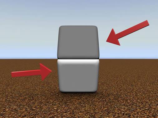 Otra ilusión óptica por contraste. Ponga su dedo de manera horizontal cubriendo la línea que separa los cuadros.