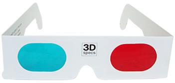 Las gafas anaglíficas contaban con una separación de imagen por medio de los colores diferentes en cada ojo.