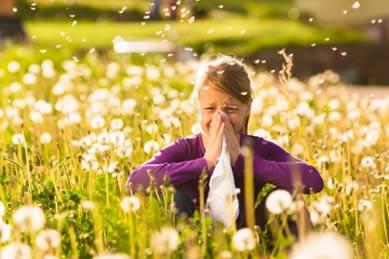 Muchas alergias oculares se presentan durante el verano cuando hay más polen en el ambiente.